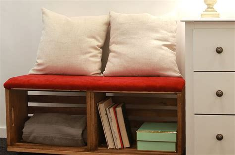 upcycle  crates   storage savvy bench crate