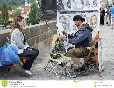 artist drawing  portrait raw editorial photo image
