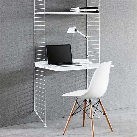 bureau étagères blanc blanc string design enfant