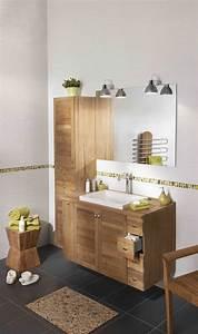 meuble bois modele creatis teck http wwwlapeyrefr With meuble salle de bain 140 cm lapeyre