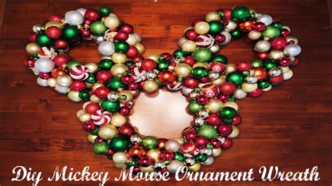 diy ornament mickey wreath ooo youtube