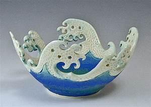 Ceramic, Wave, Rim, Bowl, For, Sale