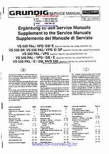 Grundig Vs520 530 540 550 Ms