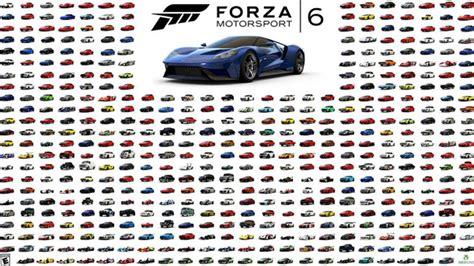 forza motorsport 6 car list including fast