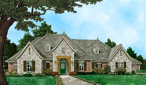 Spacious One Level European House Plan