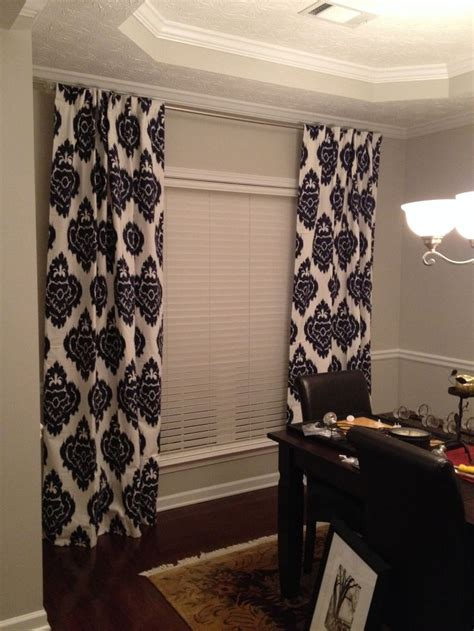 navy blue ikat curtains  sherwin williams repose gray