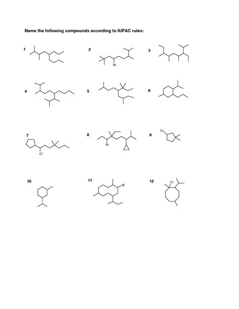 15 Best Images Of Naming Functional Groups Practice Worksheet  Organic Chemistry Nomenclature