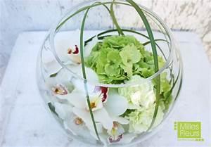 Orchideen Im Glas : counter dekoration orchideen cymbidien kugelvase ~ A.2002-acura-tl-radio.info Haus und Dekorationen