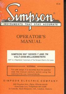 Simpson 314 Fet Vom Operators Manual Service Manual Free Download  Schematics  Eeprom  Repair