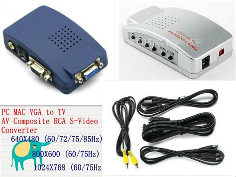 Mac Vga To Tv Av Composite Rca S Video Converter Box,new
