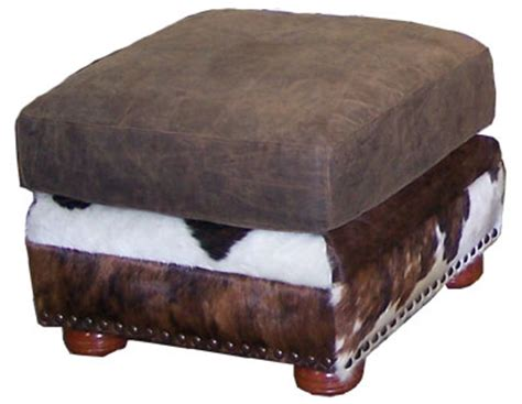 cowhide chairs cowhide chair and ottoman set cowhide