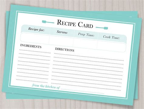 amazing blank recipe templates  enterprising chefs