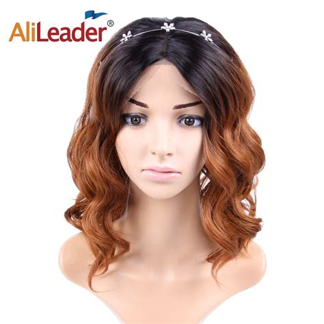 Alileader Synthetic Lace Front Wigs 16 Inch Short Hair