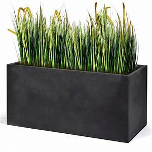 Bac Rectangulaire Pour Bambou : bac fleurs polystone l80 h41 cm gris plomb plantes et ~ Nature-et-papiers.com Idées de Décoration