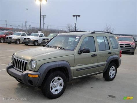 2003 green jeep liberty 2003 cactus green pearl jeep liberty sport 4x4 25415191