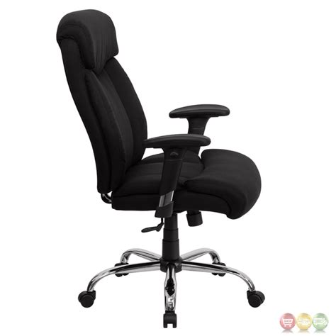 hercules big black fabric swivel office chair w