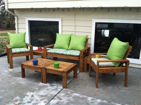 diy patio furniture white simple outdoor conversation set diy projects