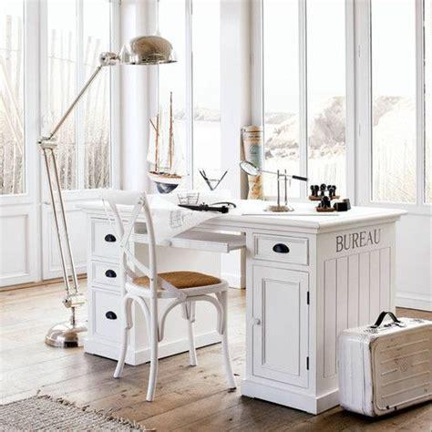 bureau en pin blanc   cm bureau en bois maison du monde  bureau