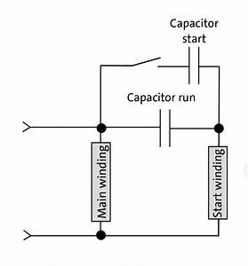 Diagram Of Capacitor Start Motor