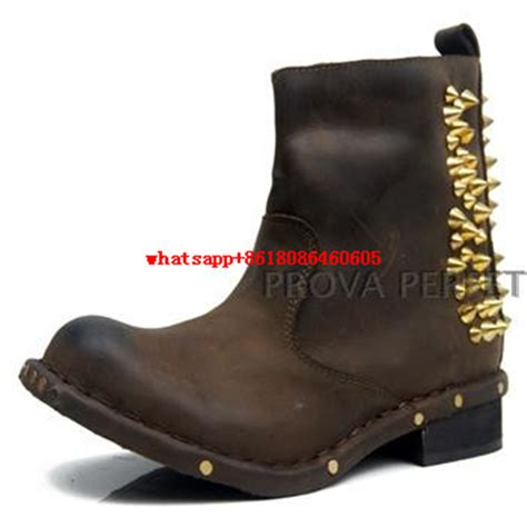 best motorcycle boots for women choudory rivets stud cowboy boots black brown genuine