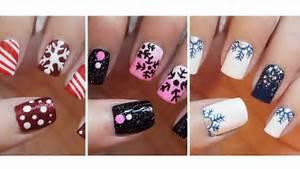 Snowflake nail art three easy designs