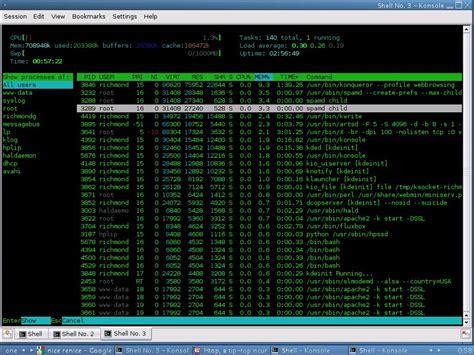 ncurses interactive system filter user go monitoring htop tip tool desktop figure