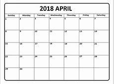 April 2018 Calendar April 2018 Printable Calendar – Pata
