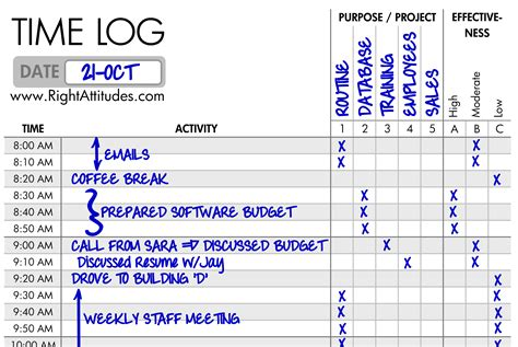 Time Log For Student Work And Template In Ms Word by Time Management 2 Time Logging Log Where Your Time