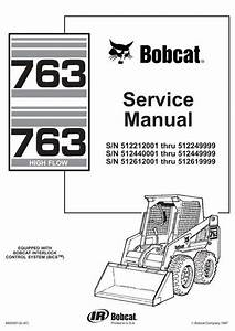 Bobcat 763  763h Skid-steer Loader Service Manual