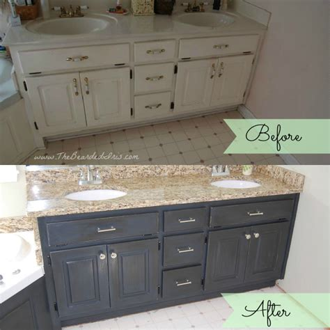 bathroom vanity paint ideas before and after of bathroom vanity makeover by the