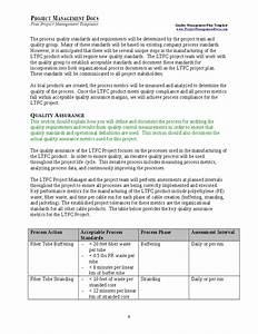 quality management plan hashdoc With quality plan template example