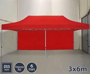 Barnum Pliant 3x6 : barnum 3x6m rouge version semi pro pack 6 parois ~ Carolinahurricanesstore.com Idées de Décoration