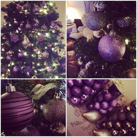 purple themed christmas tree