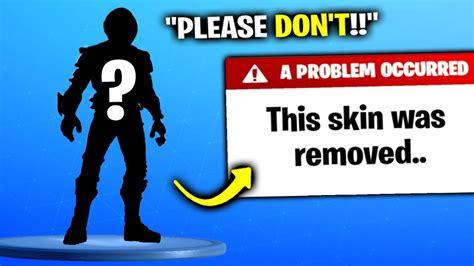 deleted  rarest fortnite skin youtube