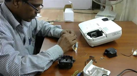 epson eb x9 projector l errorand how to change l