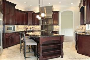 cherry wood kitchen island pictures of kitchens traditional wood kitchens cherry color page 2