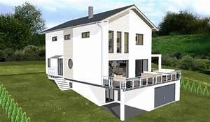 Einfamilienhaus Hanglage Planen : planungsbeisiel einfamilienhaus garage im keller ~ Lizthompson.info Haus und Dekorationen