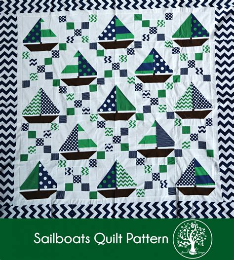 Sailboat Quilt by Quilt Inspiration Free Pattern Day Sailboats