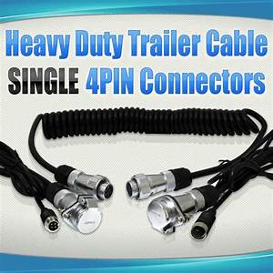 Trailer Reversing Camera Cable W   4 Pin Connectors
