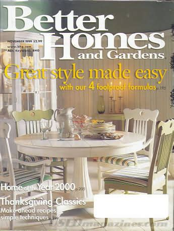 better homes and gardens past issues backissues com better homes and gardens november 1999 product details