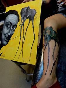 Salvador Dali Elephant by Mully: TattooNOW