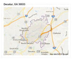 Decatur GA Zip Code Map