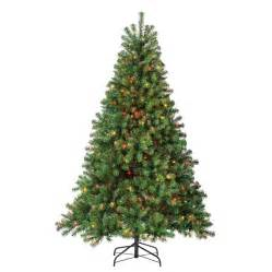 shop holiday living 6 5 ft pre lit pine artificial christmas tree with 500 count multicolor