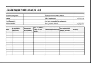 Preventive maintenance log sheet templates. 20 Editable Log Spreadsheet Templates for EXCEL | Computer maintenance, Maintenance checklist ...