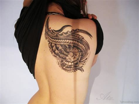 84 Amazing Biomechanical Tattoos On Back