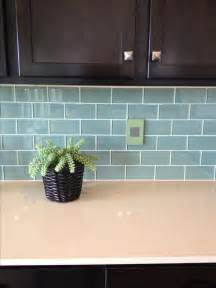 green glass tiles for kitchen backsplashes blue green glass subway tile backsplash kitchen