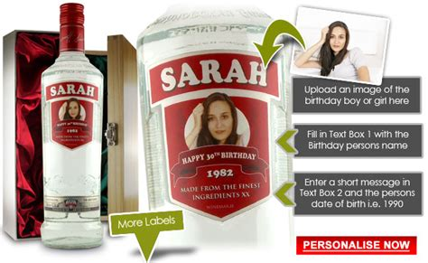 top valentines day gifts for personalised smirnoff vodka bottle personalised vodka gifts