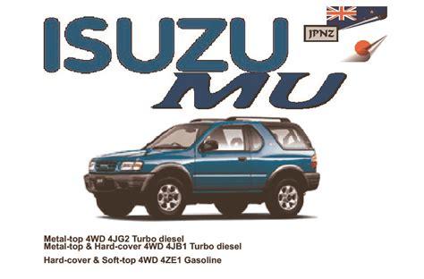 isuzu mu car owners manual 1991 1996