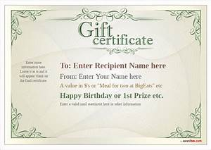 Free printable gift certificate template designs for home for Full page gift certificate template