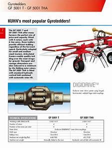 Kuhn Gyrotedders Gf 5202 Gf 7802 Gf 13002 Gf 17002 Agricultural Catalog